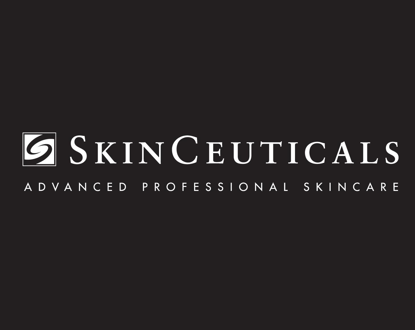 Logo SkinCeuticals fond noir